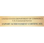 Export Achievement Award - US Department of Commerce